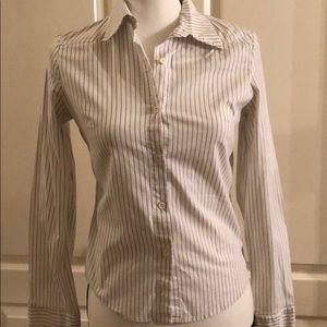 JUNIORS - Striped Long Sleeve Button Shirt